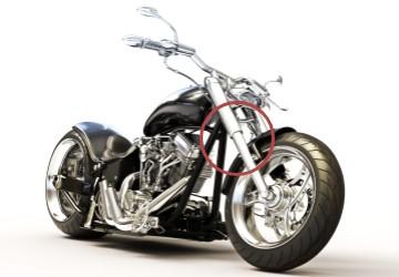 オートバイ・フロントフォークカバー